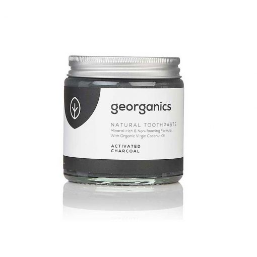 georganics natural toothpaste charcoal activated 120ml