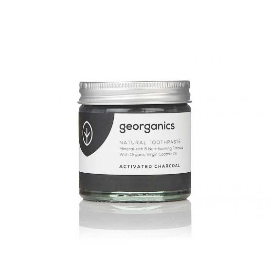 georganics natural toothpaste charcoal activated 60ml