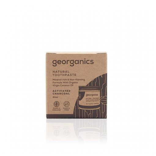georganics natural toothpaste charcoal activated 60ml packaging