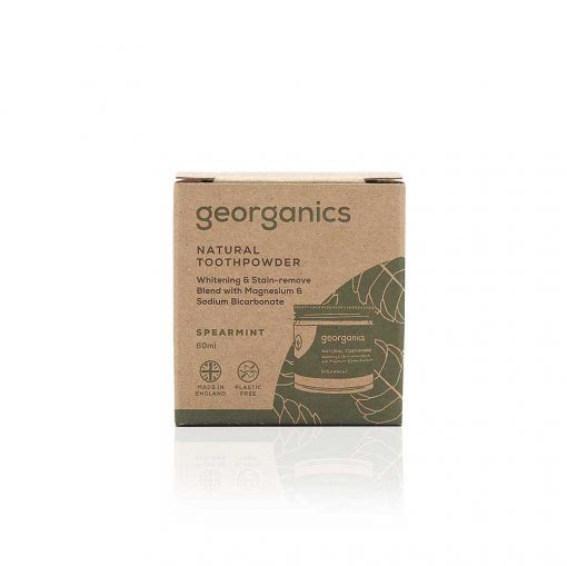 georganics natural spearmint toothpaste 60ml packaging