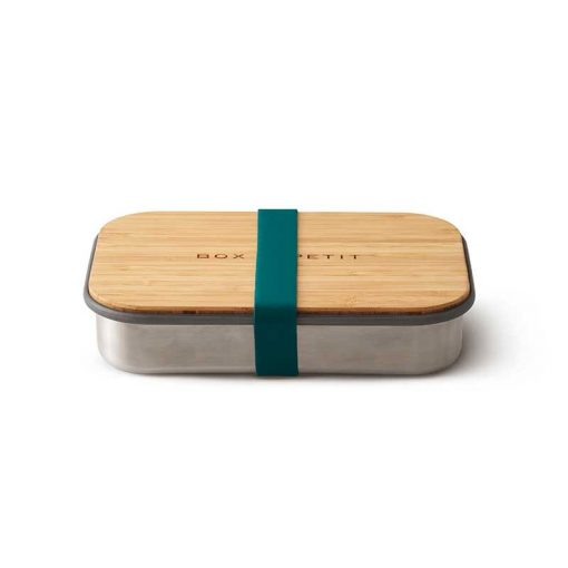 sustainable reusable salad sandwich box with bamboo lid ocean