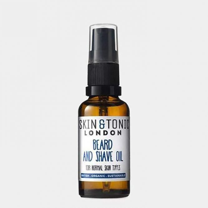 skin and tonic beard and shave oil