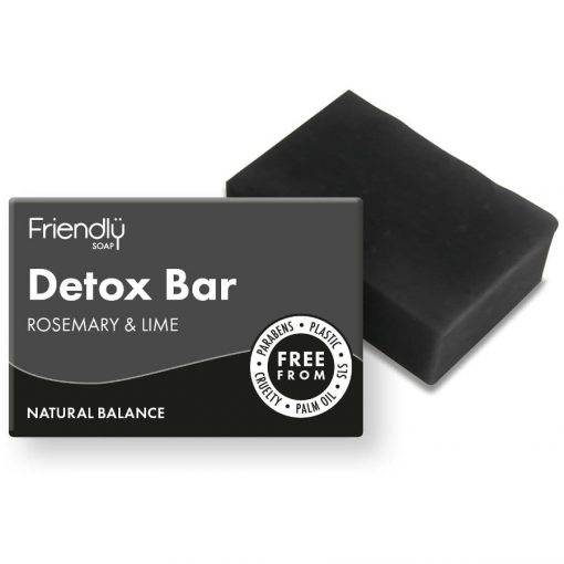friendly soap detox charcoal face wash bar