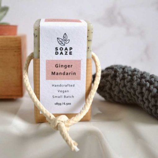 natural soap with ginger vegan friendly