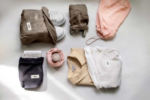 all purpose cotton bags in a collection shot