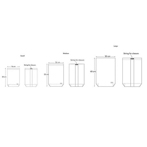 all purpose bag technical drawing all bags