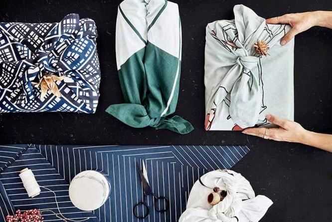 GOTS organic reusable wrapping cloth cotton