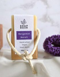 vegan natural soap on a rope