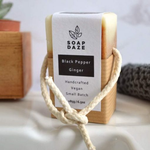 organic coconut milk soap on a rope natural and vegan
