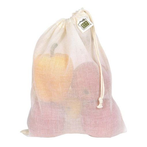 cotton drawstring reusable produce bags for plastic free living