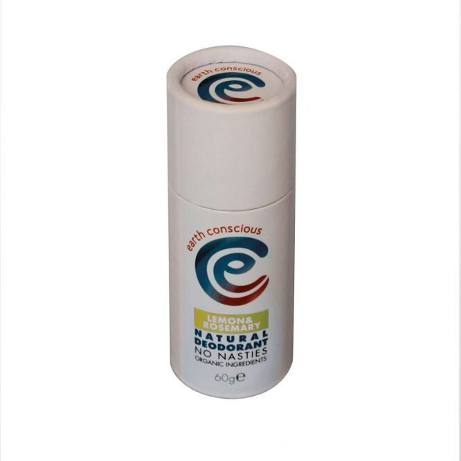 natural deodorant stick in cardboard packaging