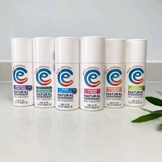 natural deodorant stick from earth conscious