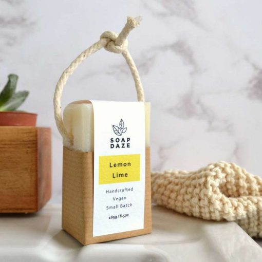 natural soap on a rope sustainable living