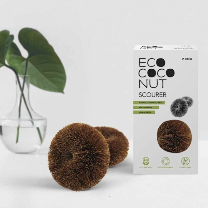 plastic free scourers for sustainable living