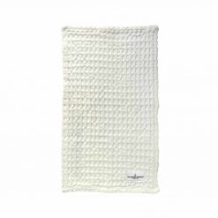 white organic wash cloth