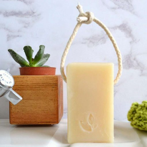Soap on a rope vegan soap no plastic no packaging