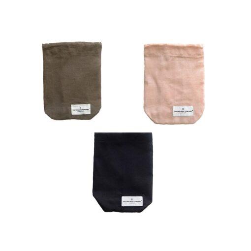 small drawstring bag made from organic cotton