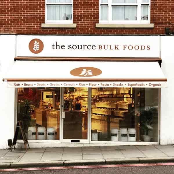 bulk food shops london 100% eco friendly
