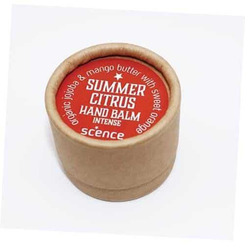 summer citrus natural hand moisturiser balm in cardboard tube