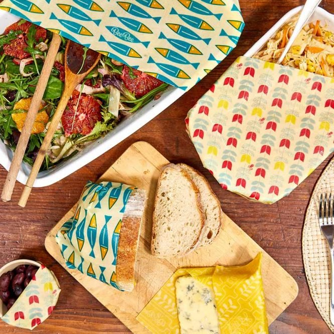 eco friendly family pack beeswax wraps
