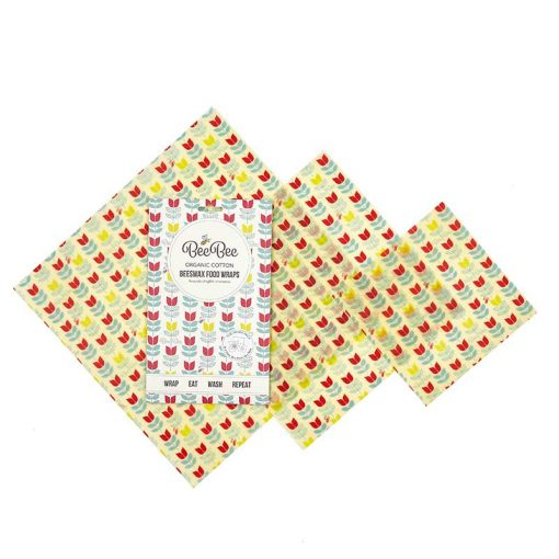 tulips mixed beeswax wraps pack