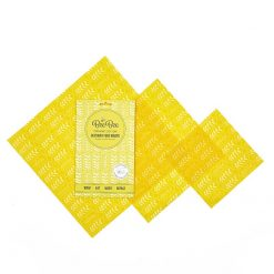 wheat design beeswax wraps mixed pack