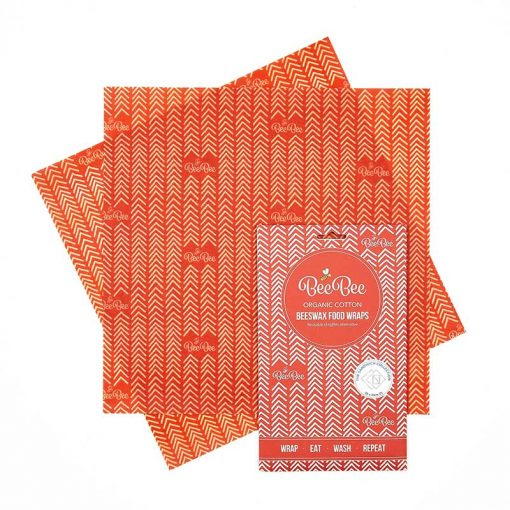 large beeswax wrap 2 pack sandwich pack
