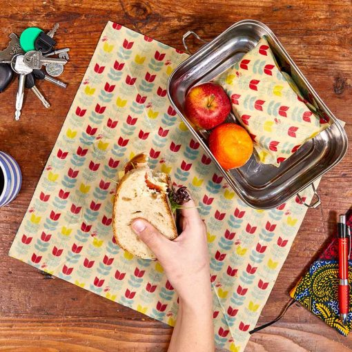 2 pack sandwich pack beeswax wraps