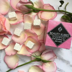 beauty kubes shampoo with rose petals