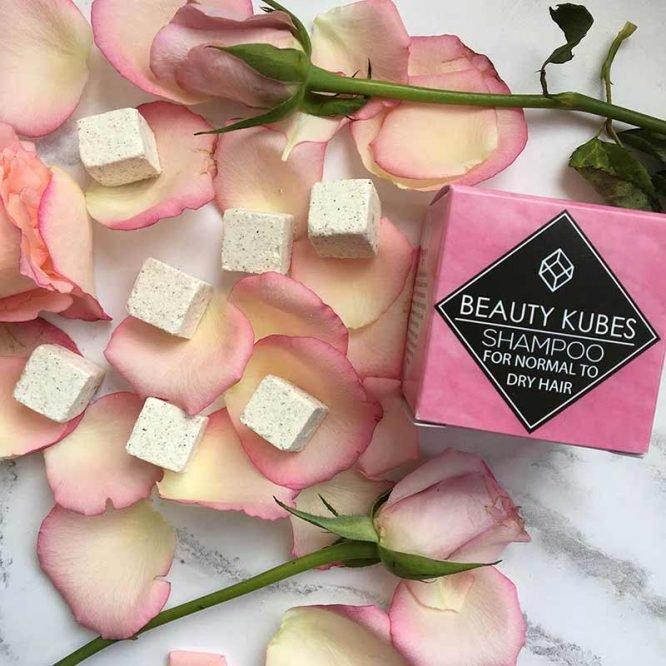 beauty kubes shampoo with rose petals