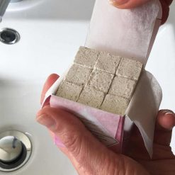 plastic free shampoo cubes in opened box