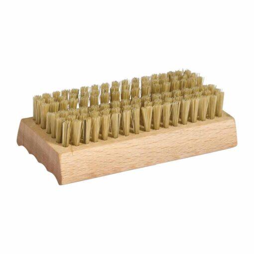 natural wooden nail brush with soap dish holder