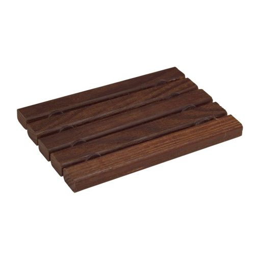 flat wooden soap dish in thermowood