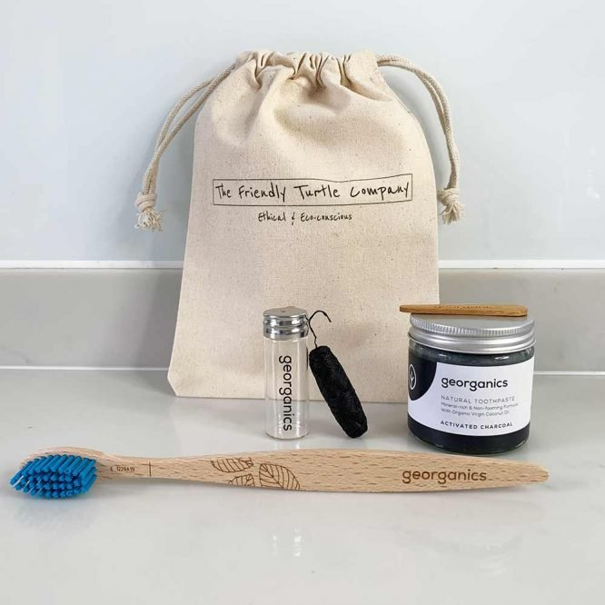 Dental Starter Bundle with brush, toothpaste and floss