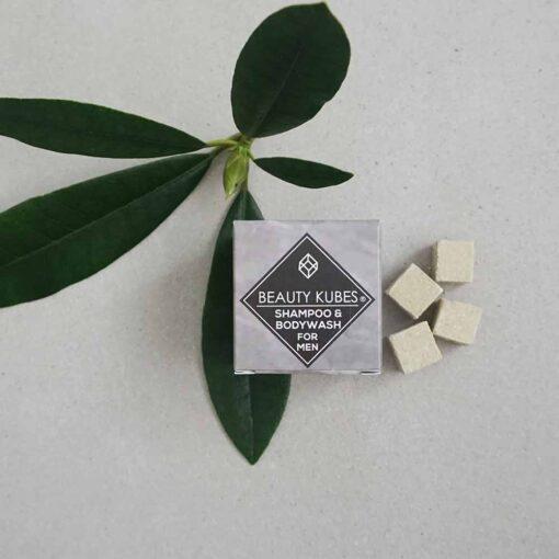 mens plastic free shampoo body wash cubes