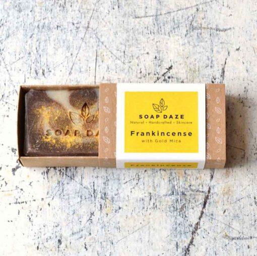 frankincense large natural soap bar in box