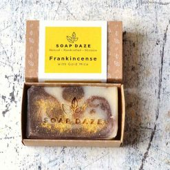 large natural soap bar in cardboard box