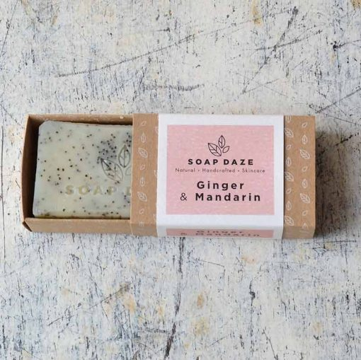 zero waste soap bar with ginger and mandarin