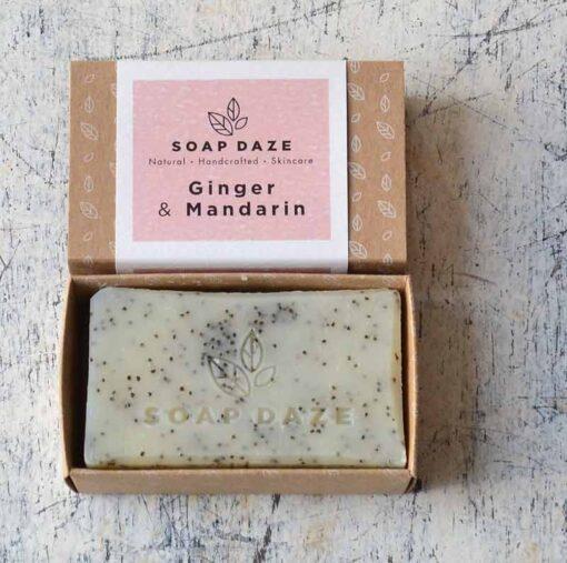 zero waste soap bar in cardboard packaging