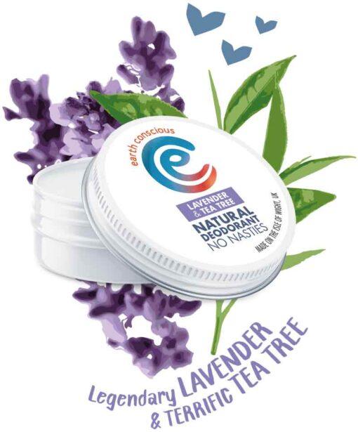 lavender and tea tree deodorant tin