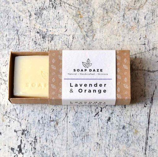 100% natural soap bar in sliding box packaging