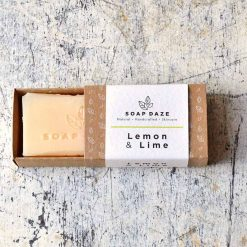 handmade bar of soap in sliding packaging
