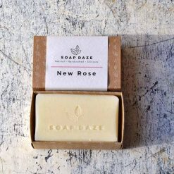 large handmade soap in cardboard packaging