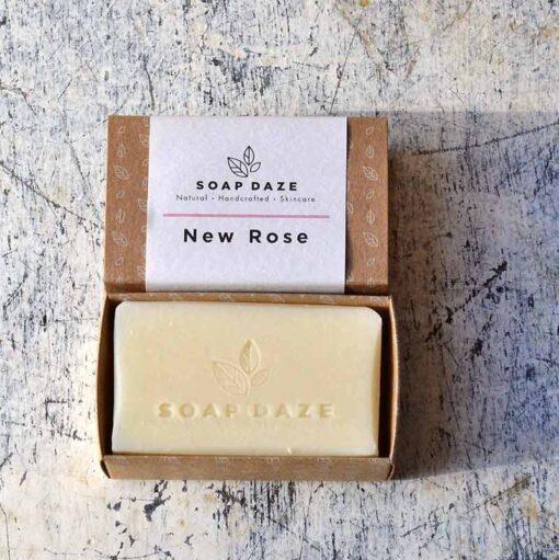 large handmade soap in cardboard packaging