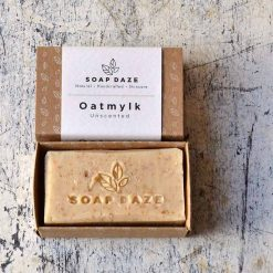 sustainable soap bar made with natural ingredients in packaging