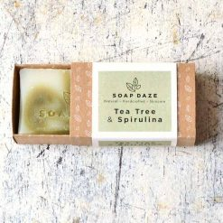 natural bar of soap without plastic packaging