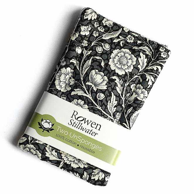 cotton unsponges in black floral print