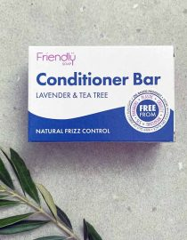 plastic free conditioner bar in cardboard box