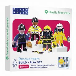 plastic free toy set rescue team in box