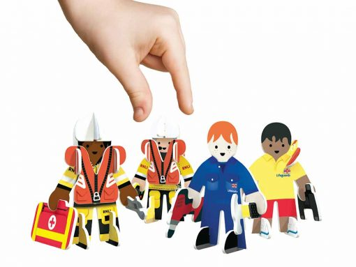 eco friendly toy set lifeboat people build and play